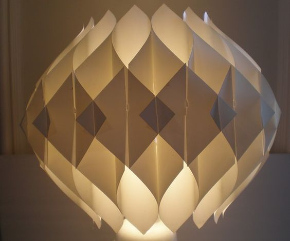 Mid Century Modern Origami Shade/Hanging Fixture by GreenZebre