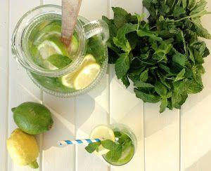 Agua refrescante de limón y hierbabuena (Detox) | Belleza