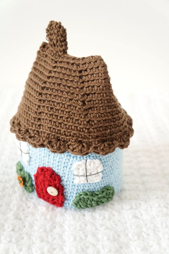 Free Kawaii Amigurumi Pattern : Amigurumi House Crochet Pattern Cottage Instant door ...