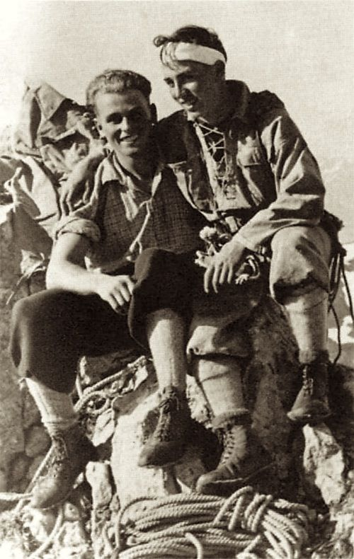 Anderl Hinterstoisser (right) with his friend Toni Kurz | The epic of the north face of the Eiger