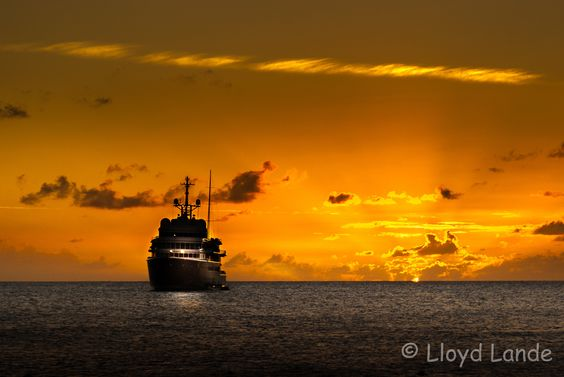 A ship and a sunset at sea by Lloyd Lande on 500px