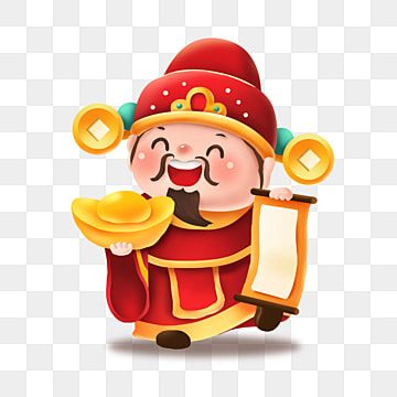 Hand Drawn Cartoon God Of Wealth Mammon Greet The God Of Wealth Lucky Fortune Png Transparent Clipart Image And Psd File For Free Download How To Draw Hands New Year Cartoon