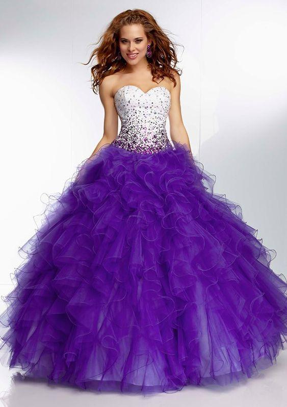 MZ0070 Sweetheart Neckline Ball Gown Purple Beaded Quinceanera Dresses 2014 New Arrive $175.66