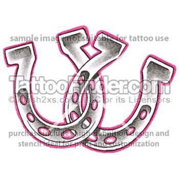 Double Horseshoe Tattoo