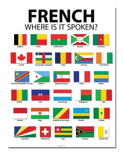 "French Speaking Countries - 20"" x 26"" - Classroom Poster Bestonium,http://www.amazon.com/dp/B00HJAWBK6/ref=cm_sw_r_pi_dp_tq.htb1P9G515PEZ"