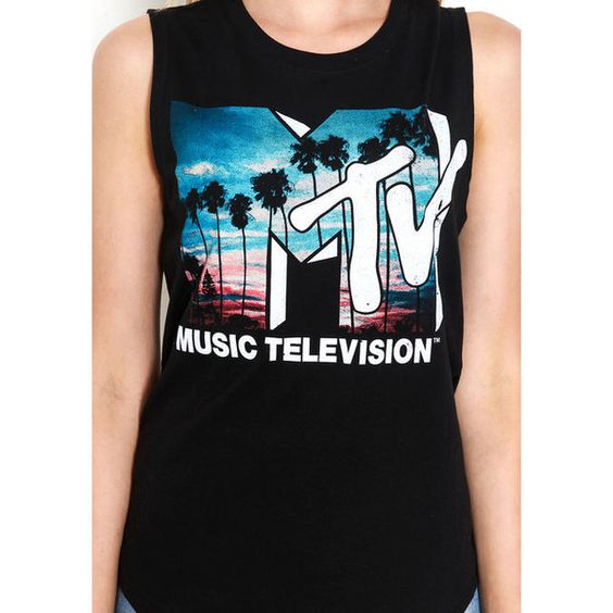 Cali MTV Graphic Tee Love Culture (€10) found on Polyvore