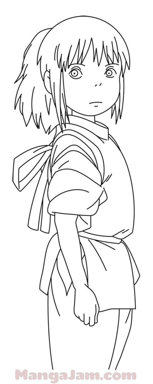 How To Draw Chihiro Ogino From Spirited Away Mangajam Com Totoro Drawing Studio Ghibli Art Studio Ghibli Characters