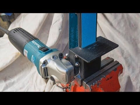 291 Angle Grinder Attachment Homemade Metal Grinder Belt Sander Youtube Angle Grinder Belt Sander Homemade Tools