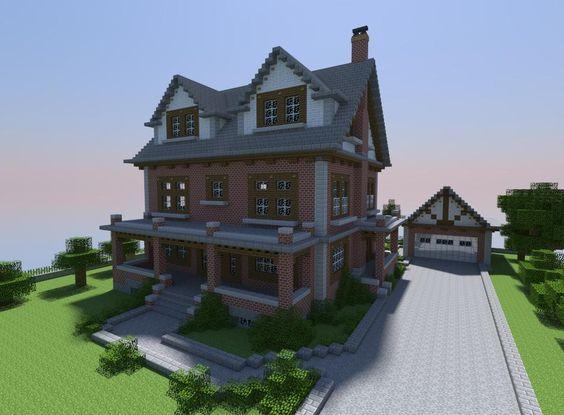 Late 1800's Brick House Minecraft Project Mining Pinterest