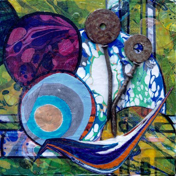 Barbara Paanakker, Mixed Media Paintings