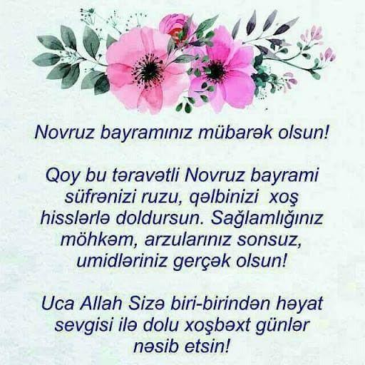 Novruz Təbrik Aciqcasi
