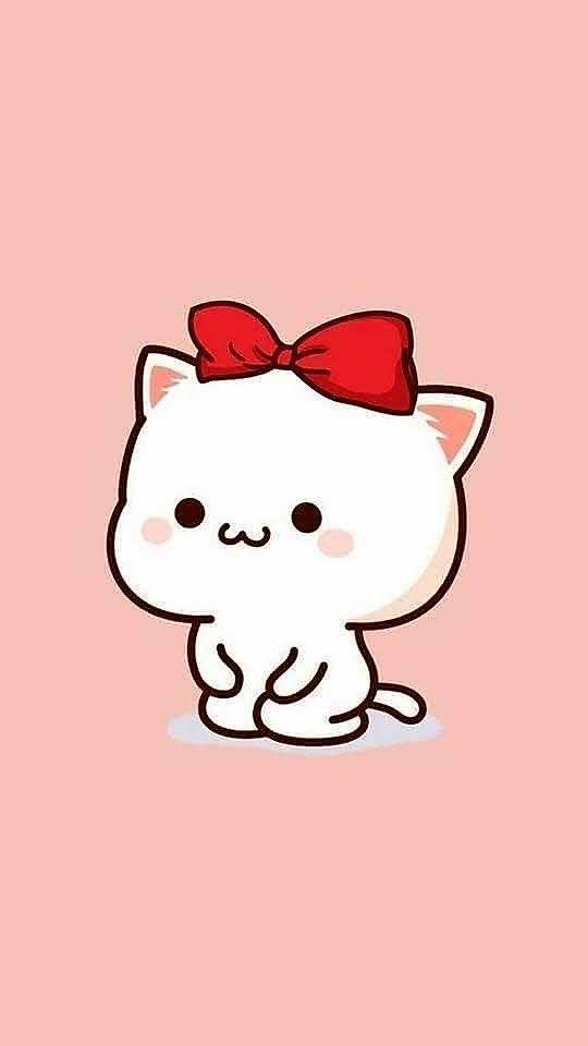 Pin Oleh ϻsϯh Naϻϼϒ Di Couple Phone Wallpaper Kartun Anak Kucing Seni Kucing