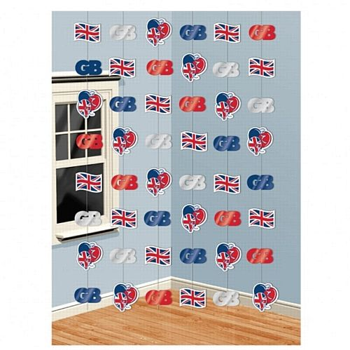 String Decoration - Great Britain  I could make one like this but USA themed.