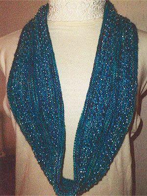 Deanna's Vintage Styles Sparkle Infinity Scarf Pattern at Dream Weaver Yarns LLC