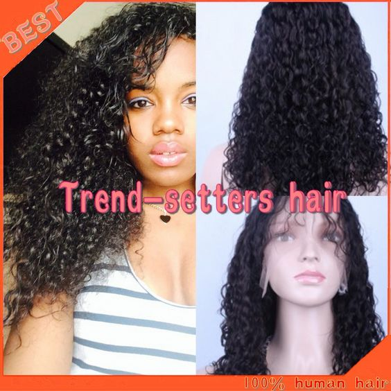 Find More Blended Hair Wigs Information about Free shipping human hair full lace wig 100% real Brazilian virgin hair kinky curly full lace wigs for black women,High Quality wig beanie,China wig bun Suppliers, Cheap wig black from Trend-setters hair products Co.,LTD on Aliexpress.com