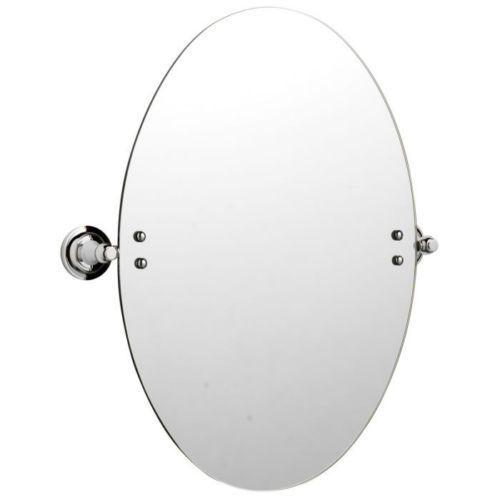 Wall Mounted Oval Chrome Bathroom, Tilting Bathroom Mirror Homebase