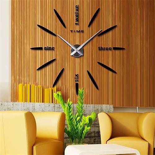 Wall Clock Casual Modern Contemporary Office Business Stainless Steel Eva 2 Diamond Indoor Outdoor Indoor Diy Clock Wall Wall Clocks Living Room Big Wall Clocks