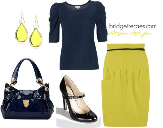 """Chartreuse Skirt"" by bridgetteraes on Polyvore"