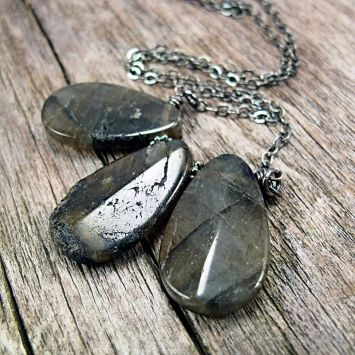 Beautiful Labradorite Necklace by J.Frances Design!