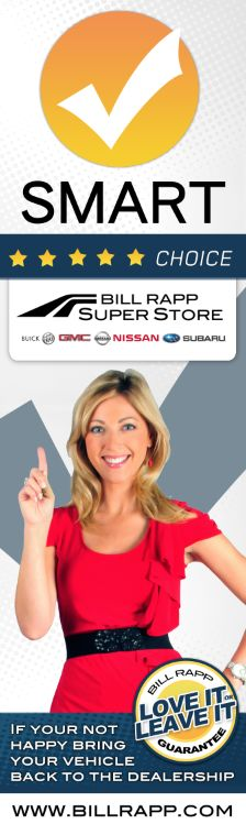 "Bill Rapp ""Smart Choice"" Banner for Dealership Show Room"