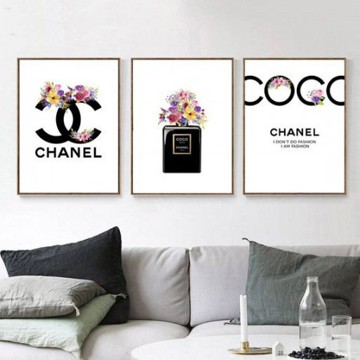 Wallart Big Wall Art Inspired By Chanel Inspired By Chanel