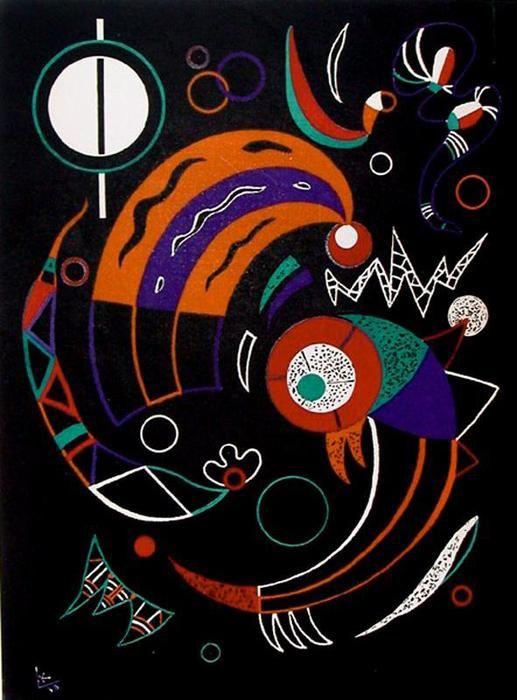 'Los cometas', óleo de Wassily Kandinsky (1866-1944, Russia):