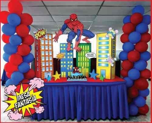 Mesa Principal De Spiderman Tendencias En Fiestas Infantiles De Moda No Piñatas De Spiderman Fiesta De Spiderman Decoracion Fiesta De Cumpleaños De Spiderman