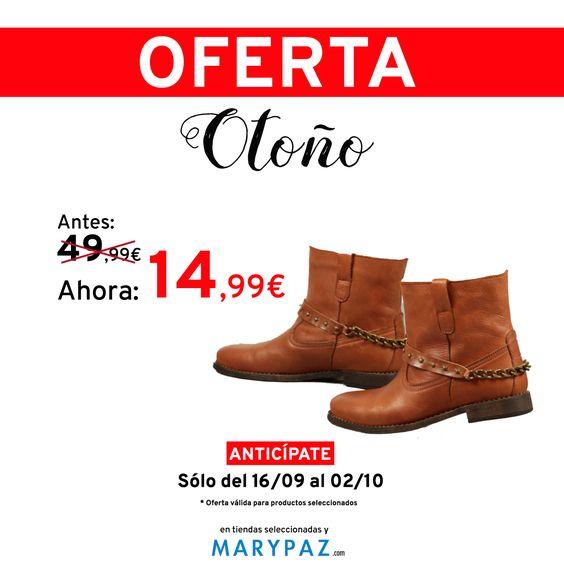 🍂 🍂 🍂 ¡¡¡ OFERTA DE OTOÑO BY MARYPAZ DESDE 9,99€ !!! 🍂 🍂 🍂  Busca este BOTÍN CON TACHUELAS aquí ►http://www.marypaz.com/oferta-oto-o/botin-de-piel-con-cadena-y-tachuelas-0310393382-72777.html  ¡No te pierdas la oferta de otoño by MARYPAZ desde 9,99€! ¡Encontrarás grandes descuentos! 🍂 🍂 🍂 ¡¡¡ OFERTA DE OTOÑO BY MARYPAZ DESDE 9,99€ !!! 🍂 🍂 🍂  #Follow #shoesobssession #love #otoño #fashion #obsesionadaconloszapatos #colour #obsesion #tendencias #marypaz #locaporlamoda #BFF #iger