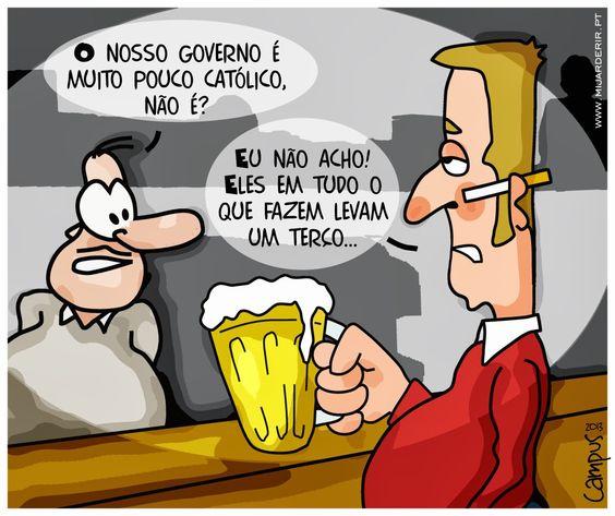 Governo católico | Ricardo Campus - Caricaturas Cartoons e Ilustração: