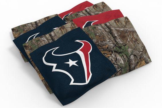 Houston Texans Cornhole Bags - Camo