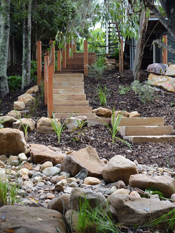 Gardens beautiful and landscapes on pinterest for Landscape design brisbane