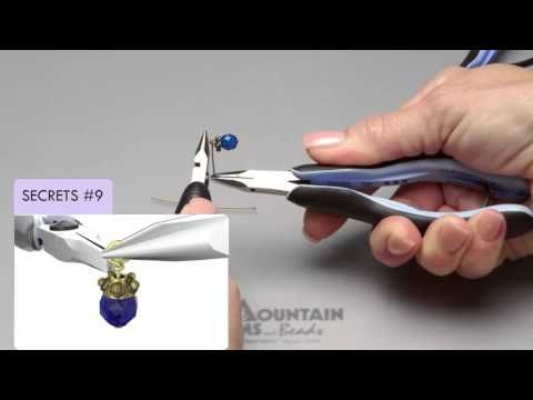 Video Tutorial - Secrets to a Wrapped Loop - I like how she just rotates the roundnose, doesn't take it out or use another kind of plier.