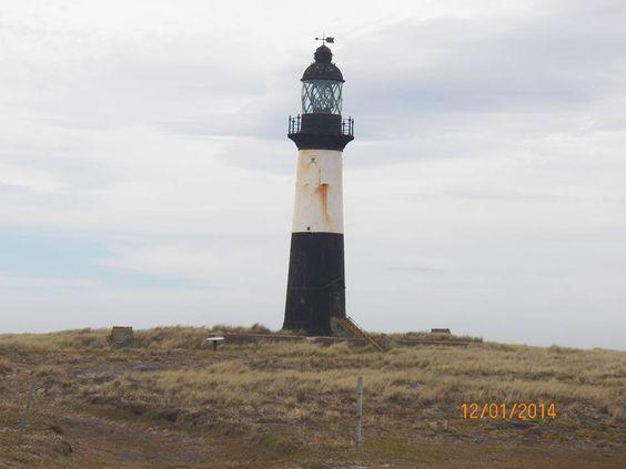 Faro lighthouse Cape Pembroke, Puerto Stanley, en las ISLAS MALVINAS, REPÚBLICA ARGENTINA.