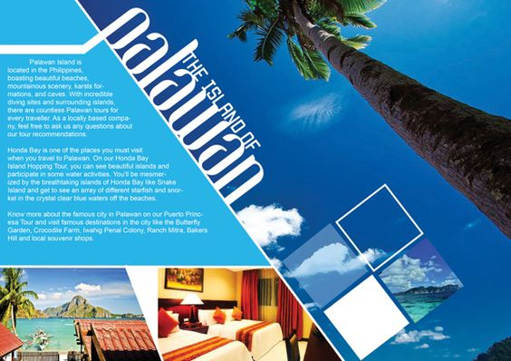 Palawan Travel Brochure on Behance 01 Work board Pinterest - travel brochure