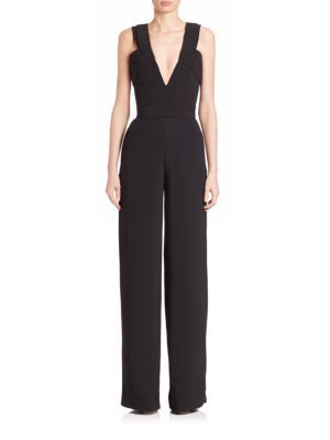BRANDON MAXWELL Crepe Jumpsuit. #brandonmaxwell #cloth #jumpsuit