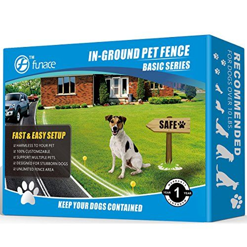 Radio Wave Electric Dog Fence System By Funace Easy To Install Invisible Inground Wired Pet Containment Kit 100 Safe Harmless To Pe Dog Fence Dogs Cat Fence