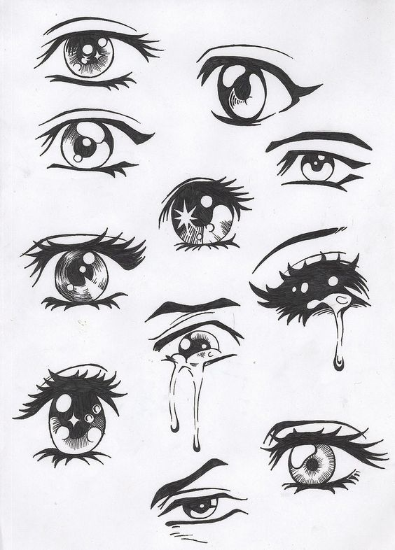 Manga eyes.... these things are sooo hard to draw, making the left look like the right :/