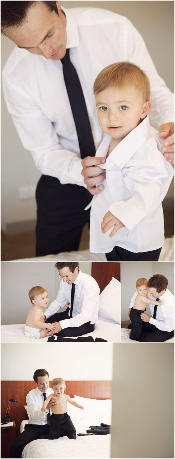 Wedding photography, page boy, father and son, getting ready, inspiration wedding. Convent Gallery Daylesford: