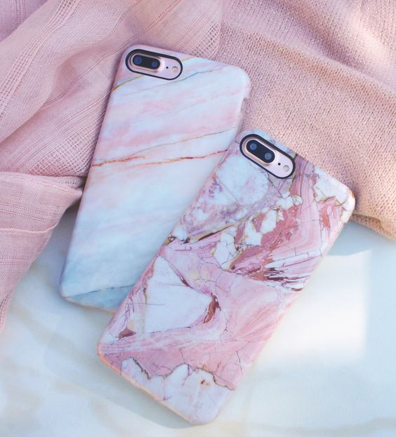 Rose & Smoked Coral on Rose Gold 7 Plus  from Elemental Cases Available for iPhone 7 & 7 Plus: