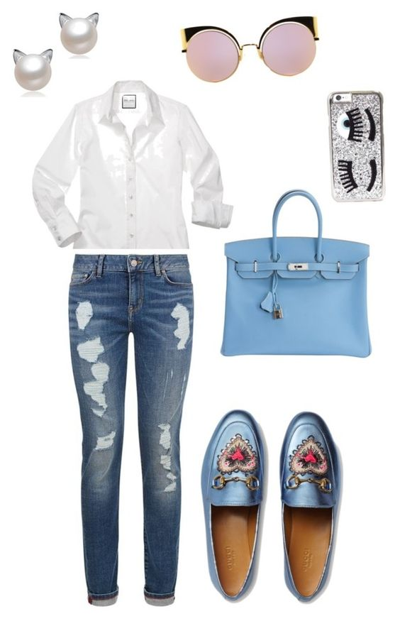 """Comfy outfit for busy morning"" by karla-paola-grullon-ceballos on Polyvore featuring moda, Tommy Hilfiger, Gucci, Hermès, Chiara Ferragni y Fendi"