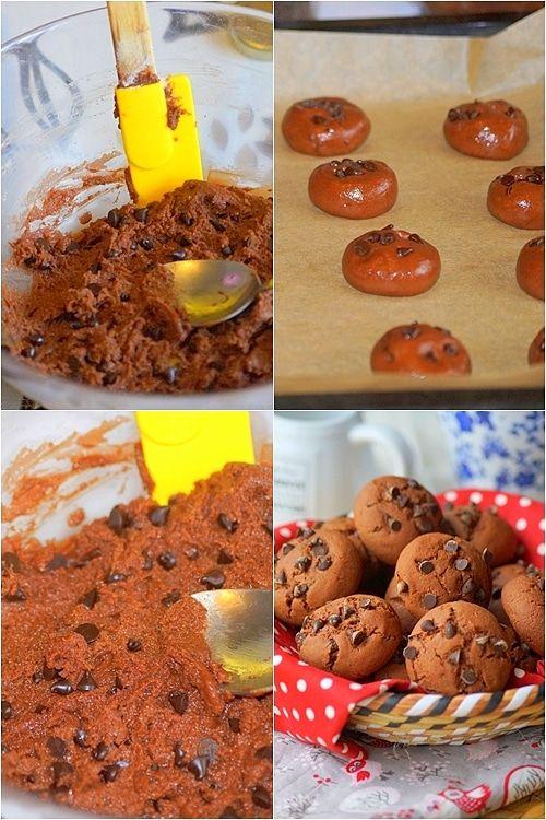 Biscuits Fondants Au Chocolat Sans Beurre Aux Delices Du Palais Recette Gouter Biscuits Fondants Recette