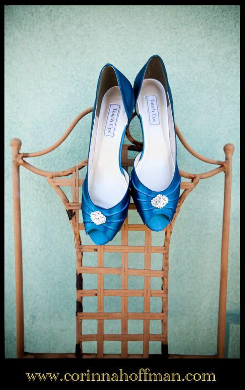 blue wedding shoes. www.corinnahoffman.com