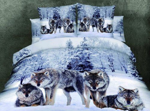 Cliab Wolf Bedding Set Queen Size Wolf Print Bedding Set $115.00 & FREE Shipping. Details Manly Bedding 100% Cotton 4pcs Cliab http://smile.amazon.com/dp/B00KHES466/ref=cm_sw_r_pi_dp_AaSEub1G3RDG4