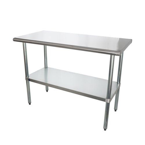 Universal Sg2448 48 X 24 Stainless Steel Work Table W Galvanized Under Shelf Stainless Steel Work Table Work Table Stainless Steel Types