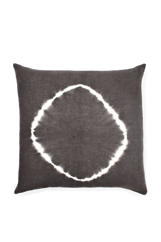 Tie Dye Circle Linen Cushion - New Arrivals - French Connection