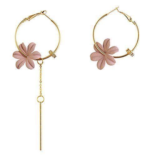 Women S Lightweight Flower Hoop Earrings Fashion Jewelry Rose Gold Christmas Gift Jewelry Hoop Earrings Style Fashion Jewelry Earrings