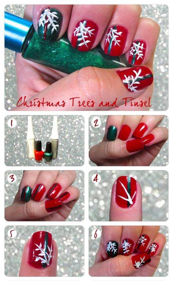 Tinsel Nail Art