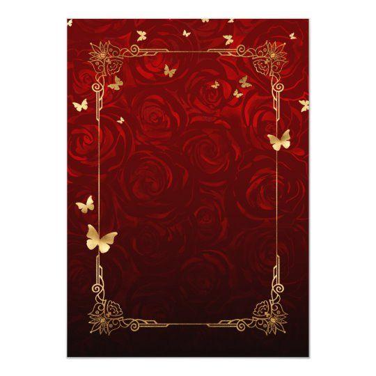 Vintage Red Rose Black Gold Elegant Quinceanera Invitation Zazzle Com In 2020 Quinceanera Invitations Quinceanera Themes Red Quinceanera Ideas