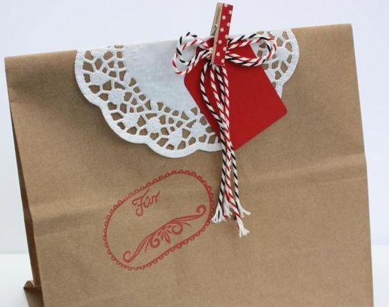 Geschenkverpackung - Kraftpapiertüte
