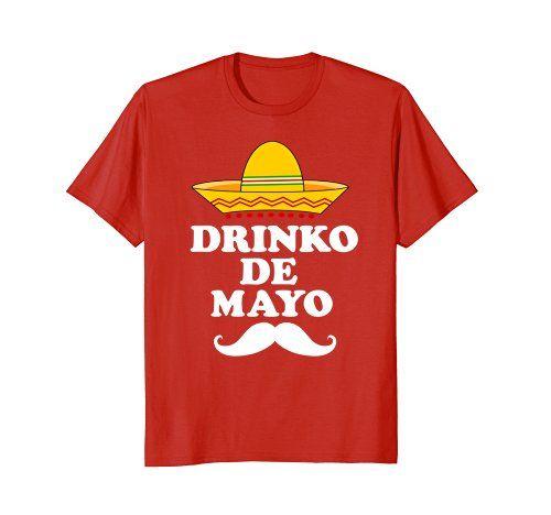 Tacos Shirts Tops T-shirts for Men Men/'s Mexican Party Sombrero /& Mustache